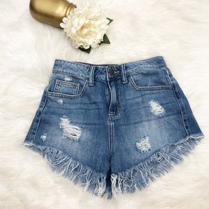 Forever 21 High Waisted Cut Off Shorts Sz XS ::YY9